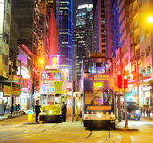 Hong Kong tram. Hong Kong S.A.R. - January 14, 2013: Trams on the street  in Hong Kong. Trams in Hong Kong have not only been a form of transport for over 100