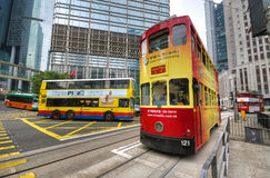 Hong Kong Trams Royalty Free Stock Images