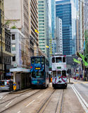 Hong Kong Trams Royalty Free Stock Photography