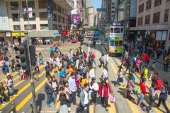 hong kong tramwaj Fotografia Stock
