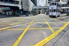 Hong Kong tramwaj Zdjęcia Stock