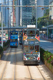 hong kong tramwaj Fotografia Royalty Free