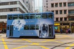 Hong Kong tramwaj na Hong Kong wyspie obrazy stock