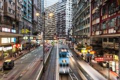 Hong Kong tramwajarski pośpiech obrazy royalty free