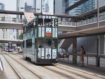 HONG KONG, tramwaje w Hong Kong - Lipa 23, 2014 Zdjęcia Stock