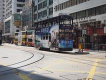 HONG KONG, tramwaje w Hong Kong - Lipa 23, 2014 Fotografia Stock