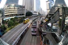 Hong Kong tramway Stock Photos