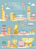 Hong Kong travel collections Royalty Free Stock Images