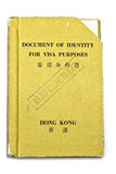 Hong Kong Travel Document Royalty Free Stock Image