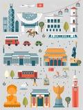 Hong Kong travel elements Royalty Free Stock Photos