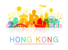 Hong Kong Travel Landmarks. Royalty Free Stock Image