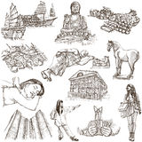 Hong Kong traveling - full sized hand drawn illustration no.1 on Royalty Free Stock Image