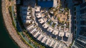 Hong Kong Tseung Kwan O Monterey. Drone shot with  Hong Kong Velodrome Park Royalty Free Stock Image