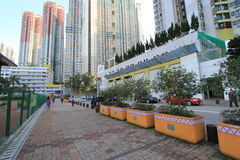 Hong Kong Tseung Kwan O Street view Stock Photo