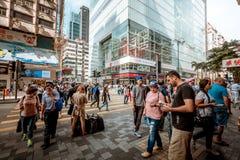 Hong Kong Tsim Sha Tsui Street View Royalty Free Stock Photos
