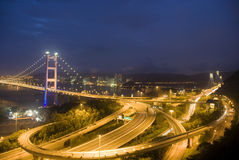 Hong Kong Tsing Ma Bridge Royalty Free Stock Images