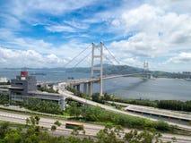 Hong Kong Tsing Ma Bridge. View of Hong Kong Tsing Ma Bridge Stock Images