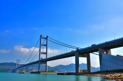 Hong kong tsing ma bridge Stock Image