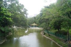 Hong Kong Tuen Mun Park Lake Imagem de Stock Royalty Free