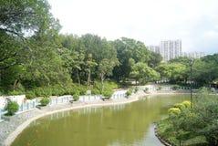 Hong Kong Tuen Mun Park Lake Imagem de Stock