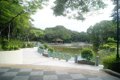 Hong Kong Tuen Mun Park Lake Fotografia Stock