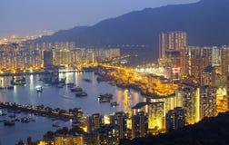 Hong Kong Tuen Mun skyline and South China sea Stock Images