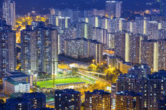 Hong Kong Tuen Mun skyline and South China sea Stock Image