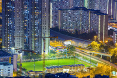 Hong Kong Tuen Mun skyline and South China sea Royalty Free Stock Photo