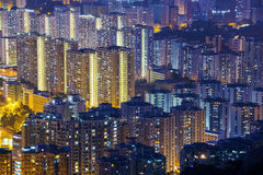 Hong Kong Tuen Mun skyline and South China sea Royalty Free Stock Photography