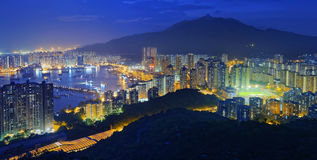 Hong Kong Tuen Mun skyline and South China sea Stock Image