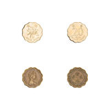 Hong Kong twenty cents coins collection Stock Image