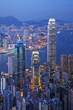 Hong Kong at Twilight Vertical Royalty Free Stock Images