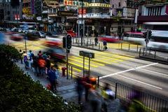 Hong Kong - 2015: Ulicy Mong Kok Zdjęcie Royalty Free