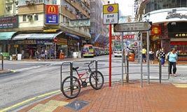 Hong kong uliczny widok: dzwoniący Choi goldfish uliczny północny rynek, mongkok Zdjęcia Royalty Free