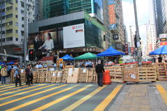 Hong Kong umbrella movement 2014 Royalty Free Stock Image