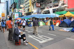 Hong Kong umbrella movement 2014 Royalty Free Stock Photos