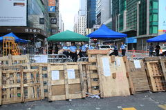 Hong Kong umbrella movement 2014 Royalty Free Stock Photo