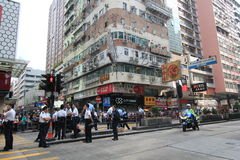 Hong kong umbrella revolution in Mong Kok 2014 Royalty Free Stock Photography