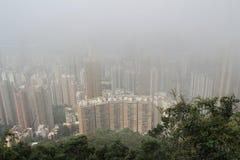 Hong Kong under storm Stock Photography