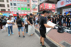 Hong Kong university students singing event for memorizing China Tiananmen Square protests of 1989 Stock Photography