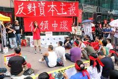 Hong Kong upptar protester som fördelas till Fotografering för Bildbyråer