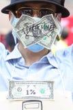 Hong Kong upptar protester som fördelas till Royaltyfri Bild