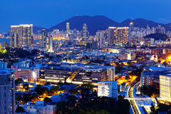 Hong kong urban night Stock Image