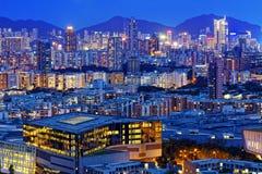 Hong kong urban night Stock Photo