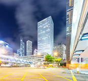 Hong Kong Urban Traffic at night Royalty Free Stock Photography
