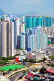 Hong kong urbanscape. Hong kong's urbanscape from a building's high point in cheung sha wan in kowloon island Stock Image