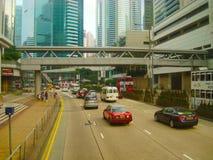 Hong Kong väg Arkivbilder