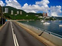 Hong Kong väg till stranden Arkivbilder