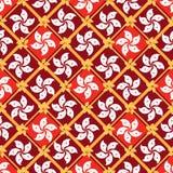 Hong Kong-van de de diamantvorm van het vlagelement het naadloze patroon stock illustratie