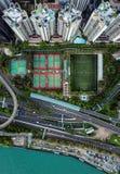 Hong Kong van hierboven royalty-vrije stock foto's